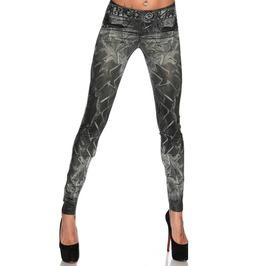 Elliz Clothing's Sexy Jeans Print Leggings Denim Look Jeggings