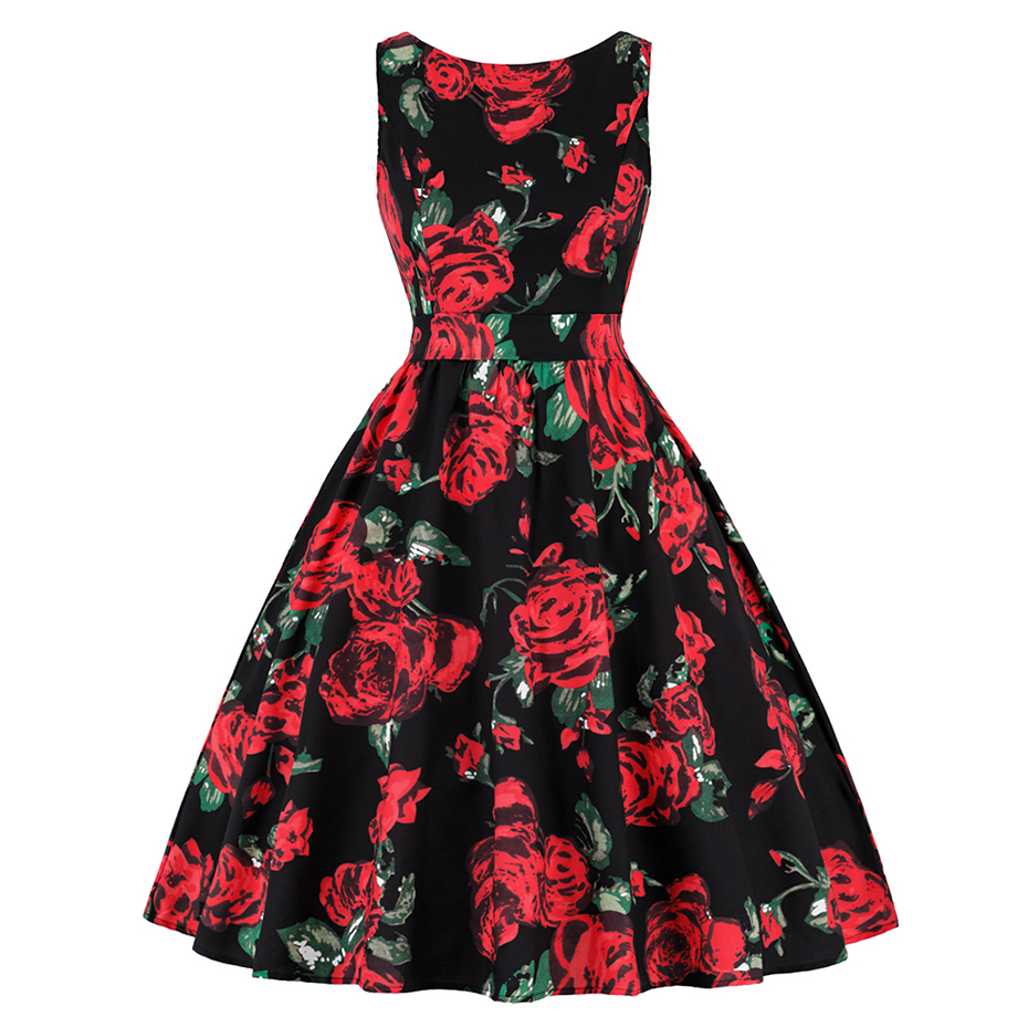 Rose Pattern Dress Best Design Ideas