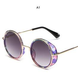 Steampunk Polarized Vintage Round Outdoor Summer Sunglasses