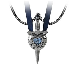 Love Is King Couples Necklace Alchemy Gothic Victorian Heart Sword Pendant
