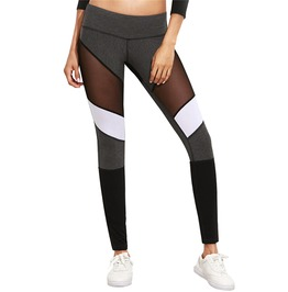 Multi Colored Mesh See Through Leggings