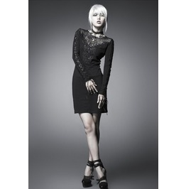 Retro Punk Gothic Slim Lace Dress