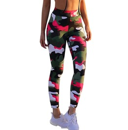Military Women's Multi Colored Camouflage Leggings