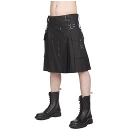 Gothic Union Kilt Pistol 100% Cotton Kilt Front 9 Button