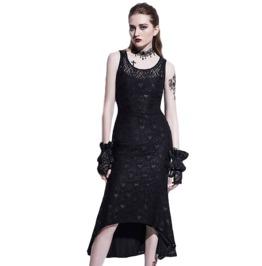 Sleeveless Black Lace Detailed High Low Midi Women's Dress