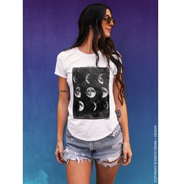 Phases Of The Moon, It's Just A Phase, Astrology, Bohemian, Womens Tshirt