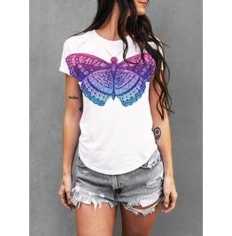 Butterfly Shirt, Vintage Butterfly, Bohemian, Womens Shirt, Boyfriend Fit
