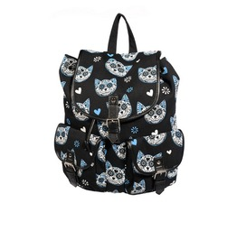 Gothic Punk Cat Kitty Sugar Skull Bagpack Muertos Style By Banned