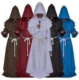 Hooded Robes Medieval Renaissance Priest Friar Halloween Costume