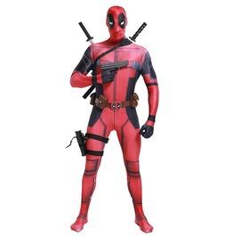 Adult Marvel Deadpool Spandex Lycra Bodysuit Cosplay Costume