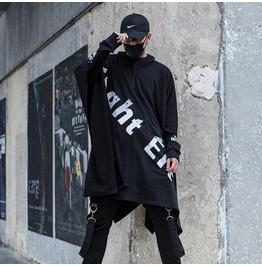 New Men Coat Hooded Gothic Steampunk Sweater Rock Cloak