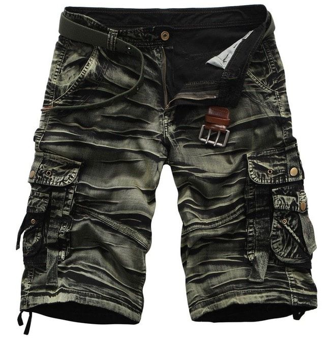db2998ab30 Pleated Print Design Military Army Camouflage Cargo | RebelsMarket