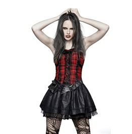 Fluffy Cute Plaid Punk Dress