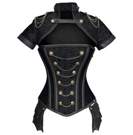 Steampunk Women's Chained Overbust Corset Top