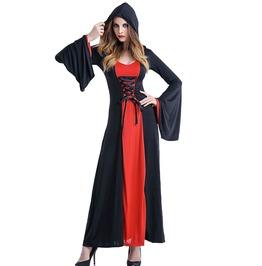 Victorian Women's Hooded Maxi Dress