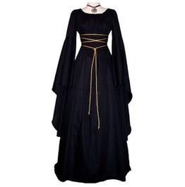 Retro Women's Medieval Long Sleeve Dress