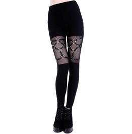 Tiberio Dark Side O Ring Harness Leather Black Occult Nu Goth Leggings