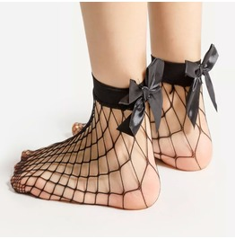 Rebelsmarket  bow fishnet slip socks  socks 6