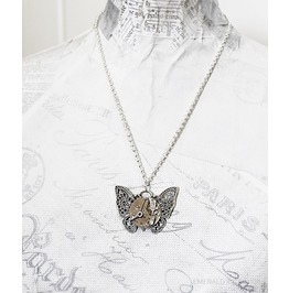 Steampunk Butterfly Necklace ~ Silver