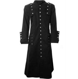 Men Long Gothic Cotton Coat Black Coat Style Long Coat