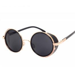 Unisex's Retro Round Goggles Seampunk Sunglasses
