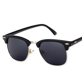 Classic Half Frame Polarized Semi Rimless Rimmed Sunglasses