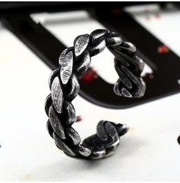 Men's Square Signet Rings Vintage Stainless Steel Rings