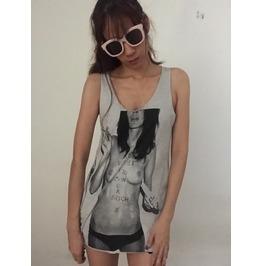 Sexy Smoke Girl Unisex Punk Rock Vest Tank Top