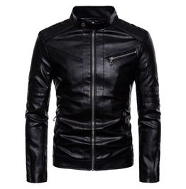 Rebelsmarket mens fashion stand collar slim fitted jacket jackets 6