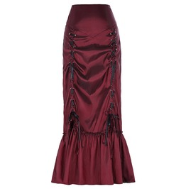 Steampunk Women's Pleated Mermaid Tail Skirt
