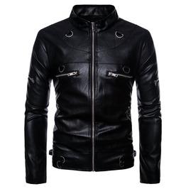 Rebelsmarket mens stand collar mulit zipper slim fitted jacket jackets 6