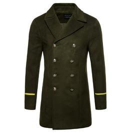 Men's Turn Down Collar Double Breasted Midi Coat