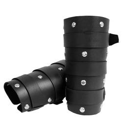 Road Warrior Black Leather Riveted Cuff Bracelet Rw34
