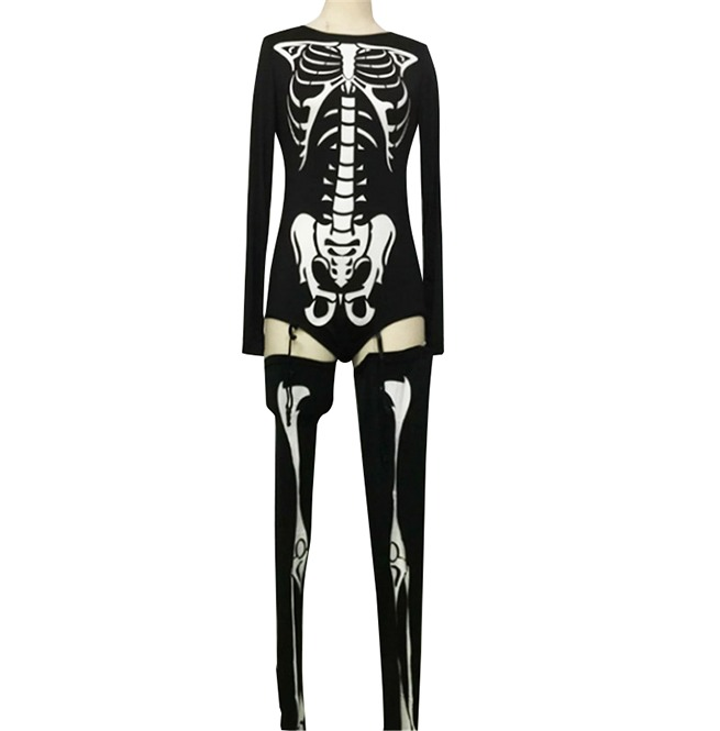 3a92383374ae11 Bones Skeleton Sexy Suit And Tights Halloween Costume | RebelsMarket