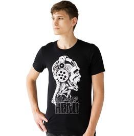 Drum And Bass Head T Shirt Robot Metal Junglist Music Mens Printed Tee Top