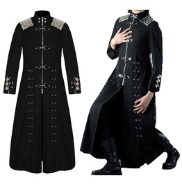 Rebelsmarket men gothic long coat steampunk style trench long hellriser unisex vampire c coats 4