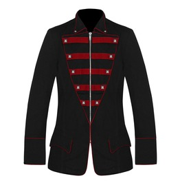Men Gothic Military Jacket Steampunk Style Army Parade Cotton Handmade Jack