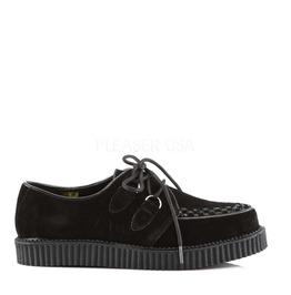 Rockabilly Mens Black Suede Creeper Loafer Size 12