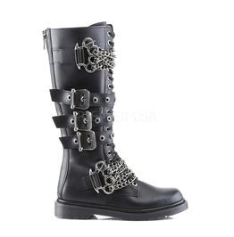 Knuckle Buster Biker Boots For Men Demonia Defiant 402 Size 9