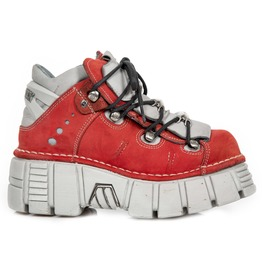 New Rock Shoes Red No Buck Alaska Tower Side Pearl Shoes