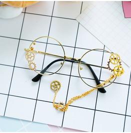 Steampunk Gothic Vintage Handmade Round Round Optical Eyewear Women Men