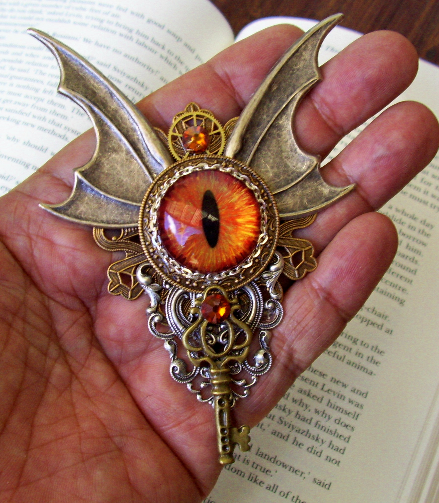 brooch bead fullxfull red il listing eye neon evil empathetic