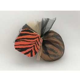Tiger Stripes Bath Bomb Heart Shaped Exotic Scent