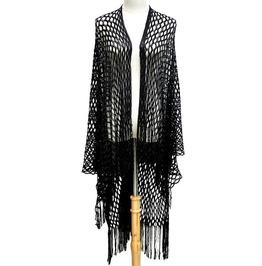 Black Fishnet Kimono