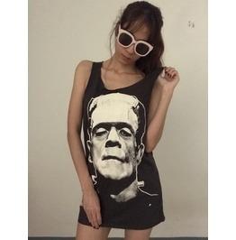 Frankenstein Horror Indie Punk Fashion Pop Vest Tank Top