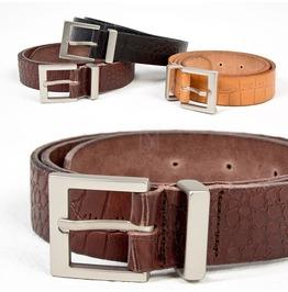 Crocodile Patterned Cow Leather Belt 67