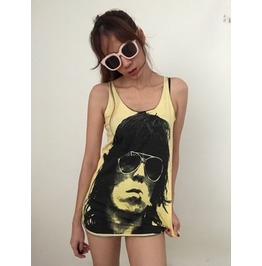 Fashion Color Blues Rock And Roll Tank Top