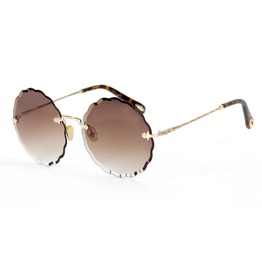 Women's Oversized Outdoor Sunglasses Rimless Polarized Lens Metal Frame