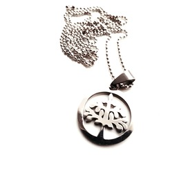 Nature Circular Stainless Steel Tree Design Pendant Necklace Tree Of Life