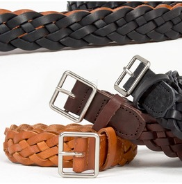 Braided Cow Leather Belt 68